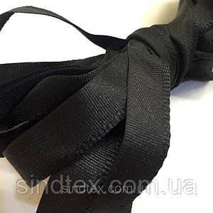 Тесьма брючная (1,5см.) моток 25м. цвет: черный (6-2426-В-127)