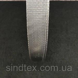 Стропа, колір сірий, довжина 2 см., довжина 50 ярд. (653-Т-0012)