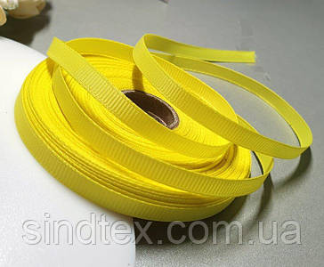 РЕПСОВА стрічка 0,6 см 23 метри, стрічка репс жовтий (сп7нг-5763)