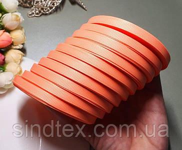 (10 рулонів) РЕПСОВА стрічка 0,6 см (10шт за 23 метри), ОПТ стрічка репс помаранчевий (сп7нг-5852)