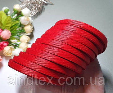 (10 рулонів) РЕПСОВА стрічка 0,6 см (10шт за 23 метри), ОПТ стрічка репс червоний (сп7нг-5854)