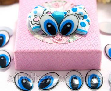 (10грамм  55-60 шт) Пластиковые овальные глазки для игрушек 15х11мм, без ресничек (сп7нг-5792)