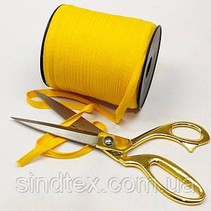 Желтая хб киперная лента 1 см на отрез кратно 1 м. (6-БК-704)