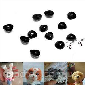 (10 грамм) Пластиковые МАЛЕНЬКИЕ носики для игрушек 8мм х 6мм (примерно - 110шт) (сп7нг-5760)