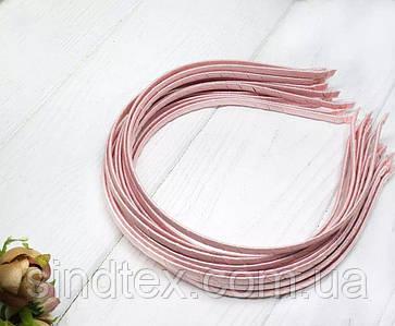 Обруч для волос обмотанный атласной лентой  (5мм металлический). Цена за 50 шт. Цвет - розовый (сп7нг-6563)