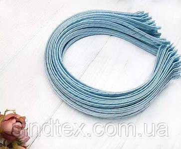 Обруч для волос обмотанный атласной лентой  (5мм металлический). Цена за 50 шт. Цвет - голубой (сп7нг-6565)