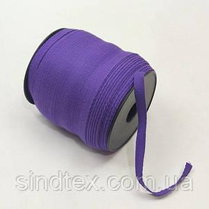 Фиолетовая хб киперная лента 1 см на отрез кратно 1 м. (6-БК-716)