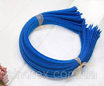 Обруч для волос обмотанный атласной лентой  (5мм металлический). Цена за 50 шт. Цвет - электрик (сп7нг-6567)