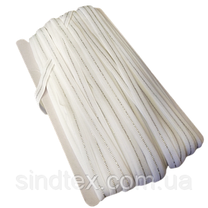 НА МЕТРАЖ Гумка біла з люрексом для бретель, ширина 1см (ПМН-660-0004)