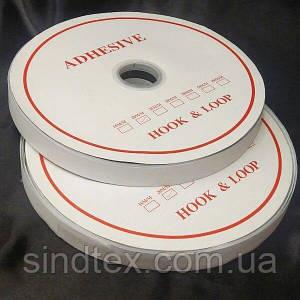 23м. Липучка клейова 2см самоклеюча, БІЛА (Velcro) (СИНДТЕКС-1120)