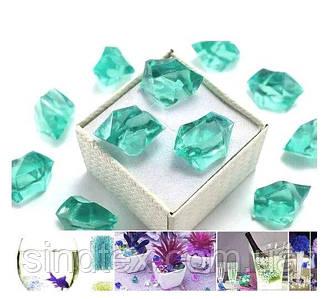 150шт Кристаллы для декора, акрил 24х17мм (искусственный лед 300грамм) Мятный (сп7нг-6575)