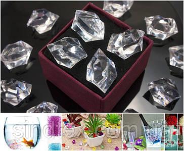 150шт Кристаллы для декора 24х17мм (искусственный лед 300грамм) Прозрачные кристаллы (сп7нг-6690)
