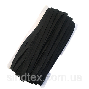 НА МЕТРАЖ чорна Гумка з силіконом для бретель, ширина 1см (ПМН-660-0009)