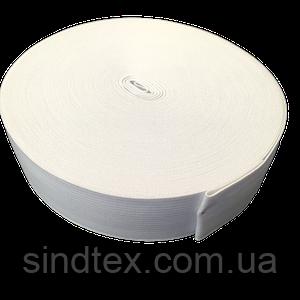 Широкая бельевая резинка для одежды Sindtex белая 3 см х 22,5 м (СИНДТЕКС-0055)
