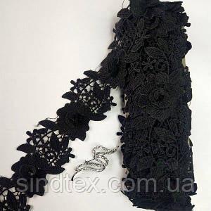 Кружево макраме Sindtex 7см (9м) Цвет - Черный (39-HL-1430-3)