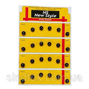 D=8,5мм пришивні застібки-кнопки для одягу Sindtex 24шт металеві колір антік (653-Т-0037)