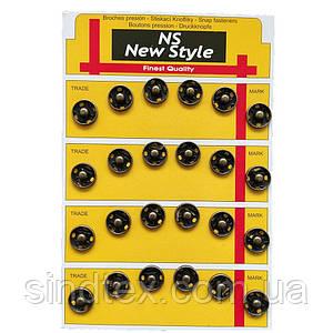 D=12мм пришивні застібки-кнопки для одягу Sindtex 24шт металеві колір антік (653-Т-0041)