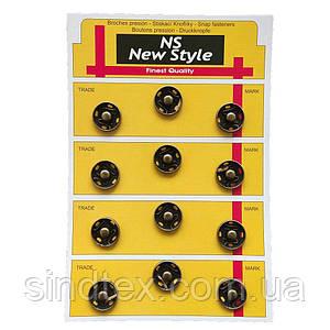 D=17мм пришивні застібки-кнопки для одягу Sindtex 12шт металеві колір антік (653-Т-0046)