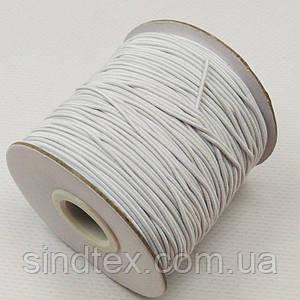 1 мм кругла Резинка (капелюшна) біла 100 ярд. (СИНДТЕКС-0751)