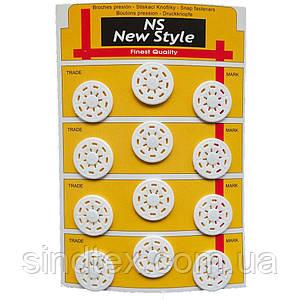 D=25мм пришивные кнопки для одежды Sindtex 12шт пластиковые цвет белый (653-Т-0276)