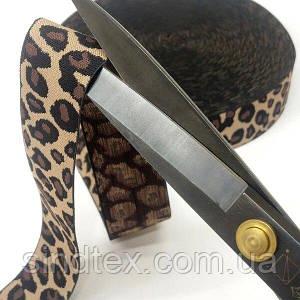 "1 метр гумка поясна 3,8 см ""леопард"" (657-Л-0174-1)"