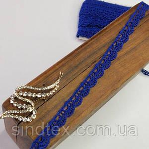 (1 метр) Мереживо макраме Sindtex 1,2см Колір - Синій электрик (51М-Y12459-6)