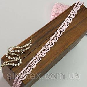 (1 метр) Мереживо макраме Sindtex 1,2см Колір - Рожевий блідий (51М-Y12459-7)