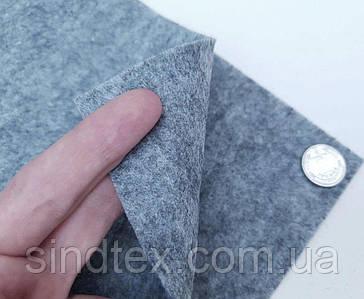 Фетр для рукоделия 2мм, 20х30см, фетр жесткий Серый меланж (сп7нг-6930)