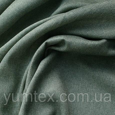 Портьерная ткань рогожка Брук (под лён), цвет хвойный
