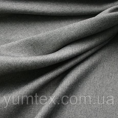 Портьерная ткань рогожка Брук (под лён), цвет серый