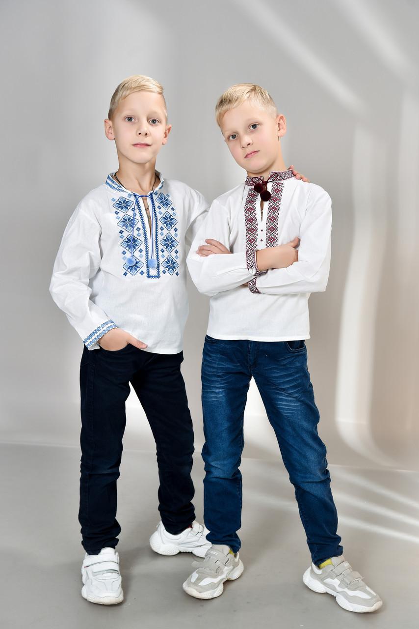 Украинская вышиванка для мальчика р. 122-158 от 6 до 14 лет