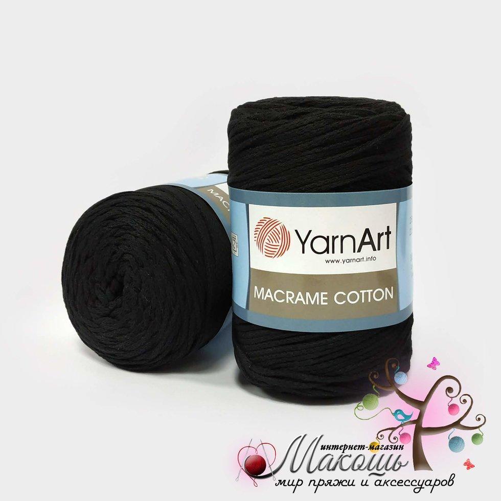 Пряжа Macrame Cotton YarnArt, №750, черный