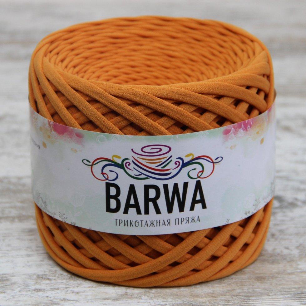Пряжа трикотажна Барва, стандарт 7-9 мм, абрикосовий джем