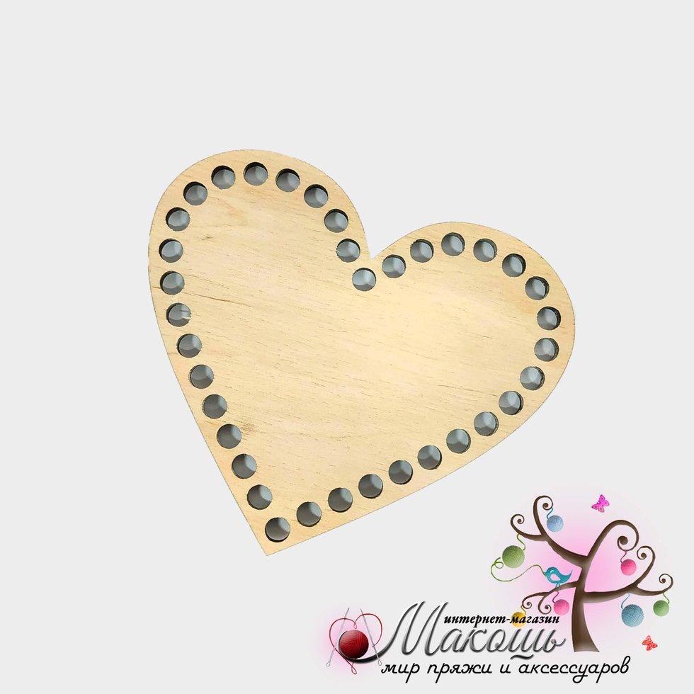 Донышко для вязанных корзин Сердце, 13х15 см