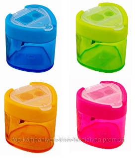 Точилка пластиковая с контейнером, двойная Peppy Pinto (8132)