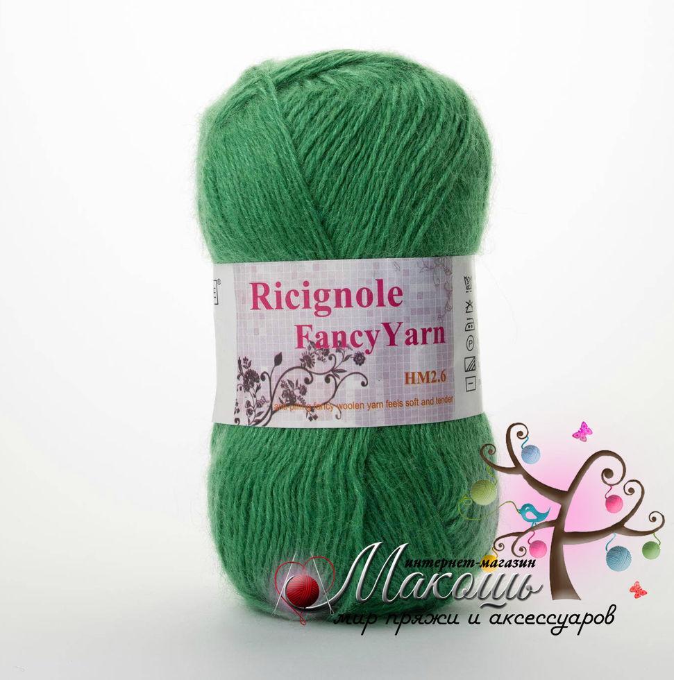 Пряжа Ricignole Fancy Yarn HM2.6, № 266, зеленый
