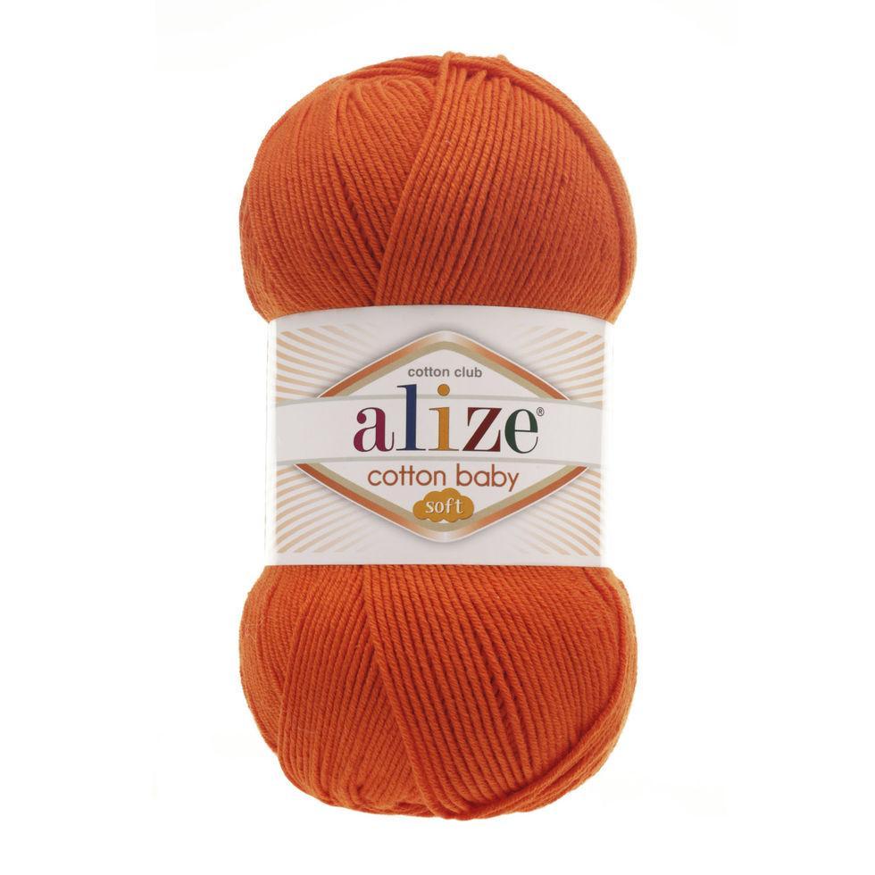 Пряжа Коттон бэби софт Cotton Baby Soft  Alize, № 37, оранжевый