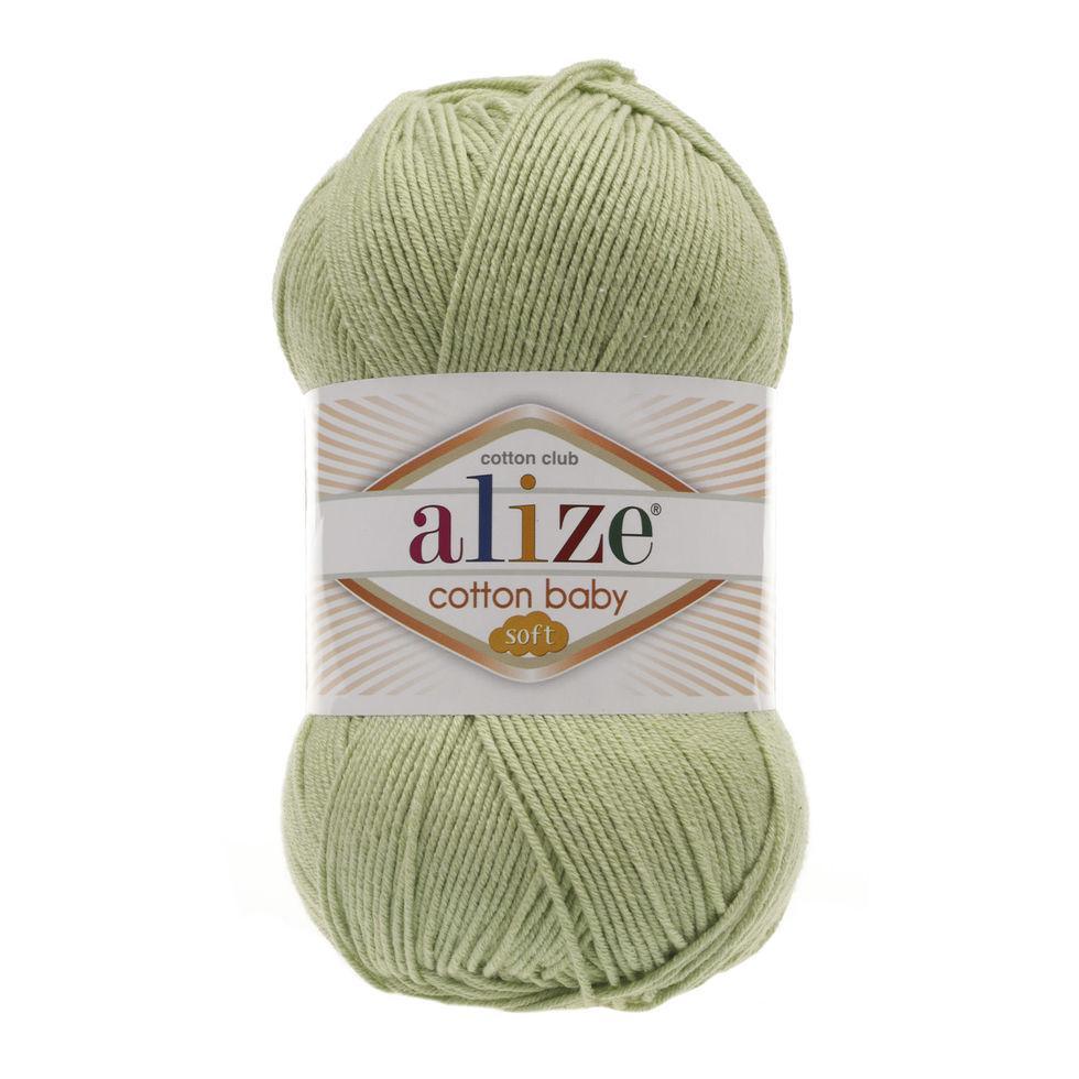 Пряжа Коттон бебі софт Cotton Baby Soft Alize, № 101, фісташка