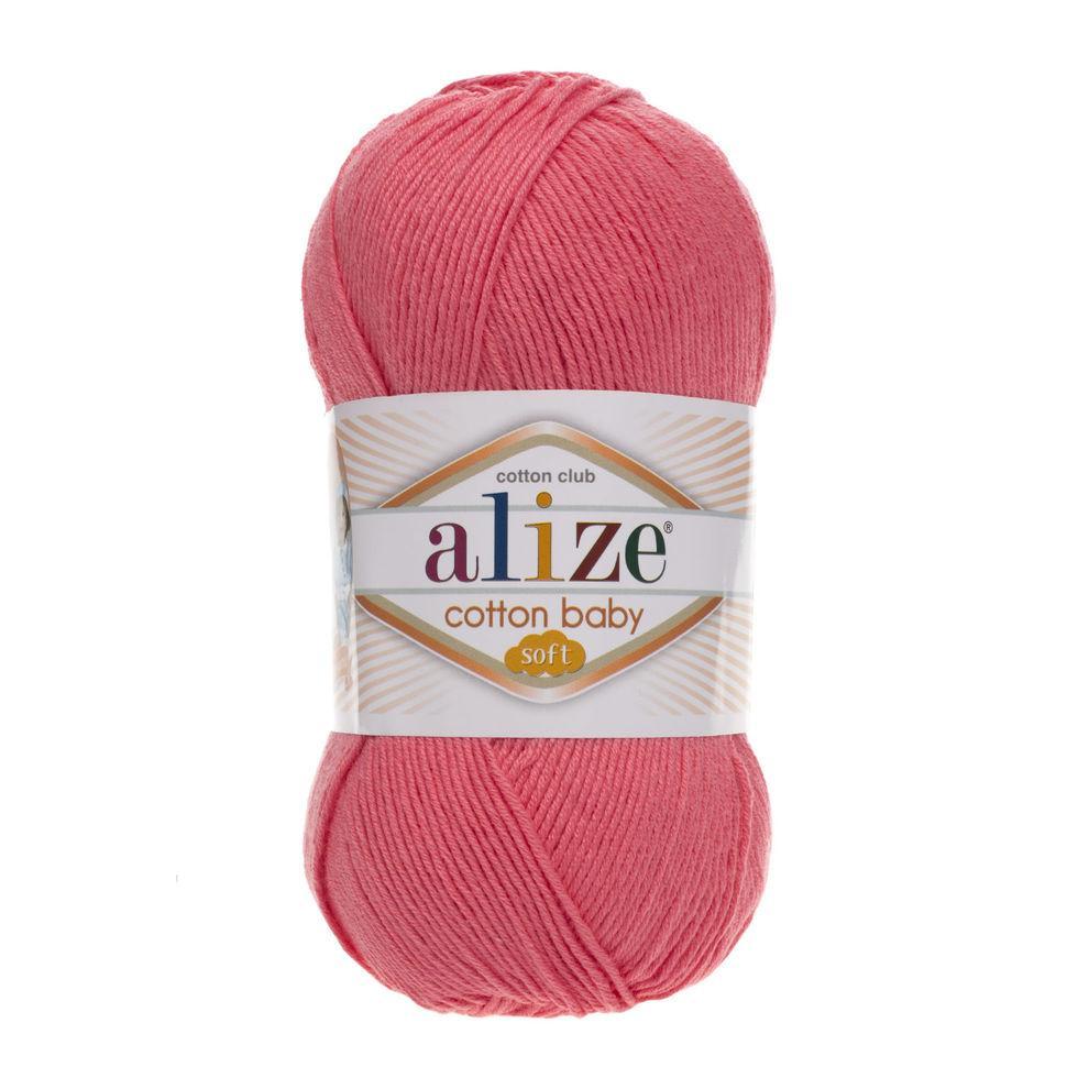 Пряжа Коттон бэби софт Cotton Baby Soft  Alize, №33 т. розовый