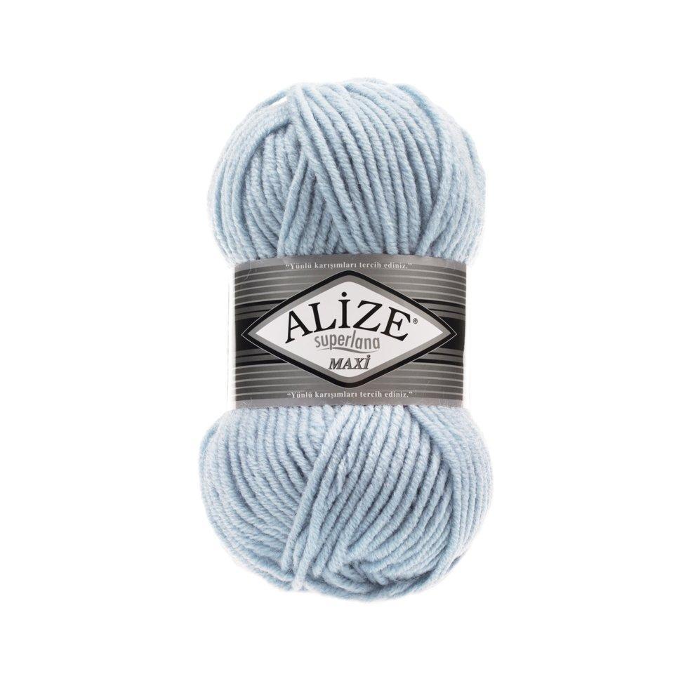 Пряжа Alize SuperLana Maxi, №480, св. голубой