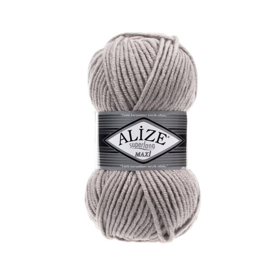 Пряжа Alize SuperLana Maxi, №652, пепельный