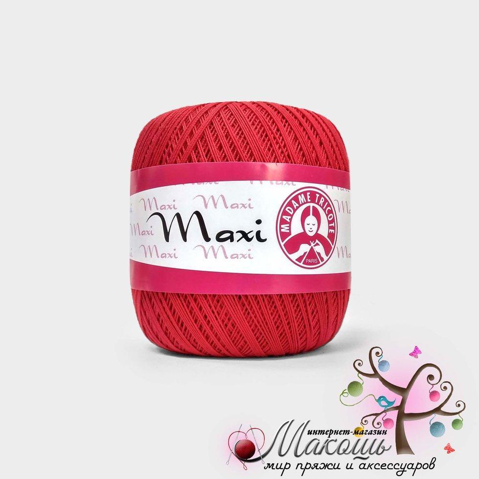 Пряжа Максі Maxi Madame Tricote, №6328, червоний