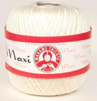 Пряжа Максі Maxi Madame Tricote, №6282, молочний