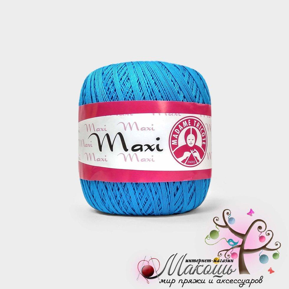 Пряжа Максі Maxi Madame Tricote, №5519, бірюза