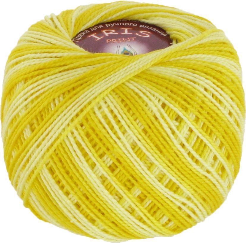Пряжа Iris print (Vita Cotton) № 2209, жовтий меланж