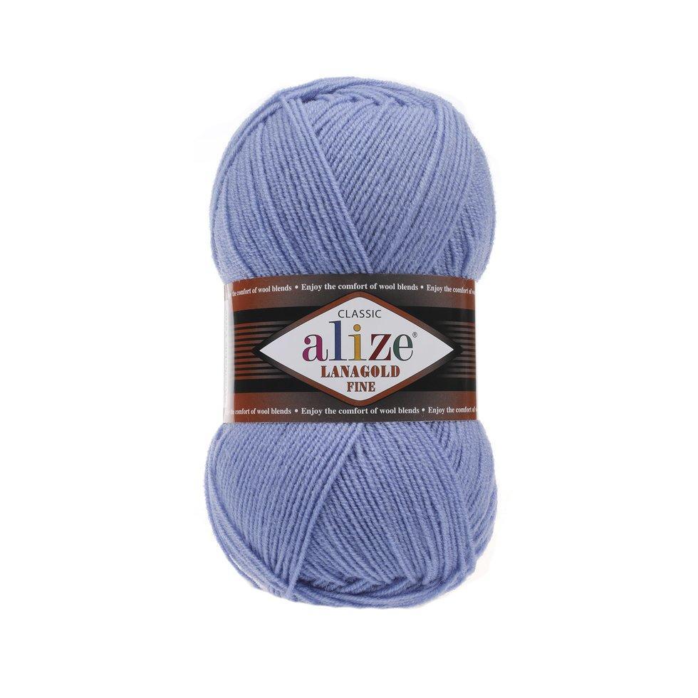 Пряжа Лана голд файн Lanagold fine Alize, № 40, блакитний