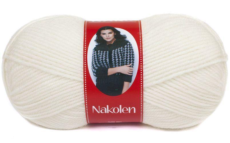 Пряжа Наколен Nakolen Nako, № 208, белый