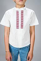 Вышиванка для мальчика с коротким рукавом р. 122-140 от 6 до 10 лет