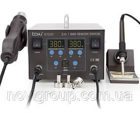 Паяльна станція BAKKU BA-8702D цифрова індикація, фен, паяльник (335*276*210) 4,43 кг