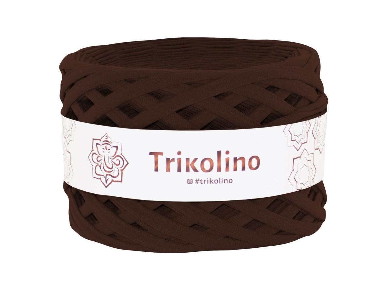 Пряжа трикотажна Триколино, 7-9 мм, 201702, шоколад